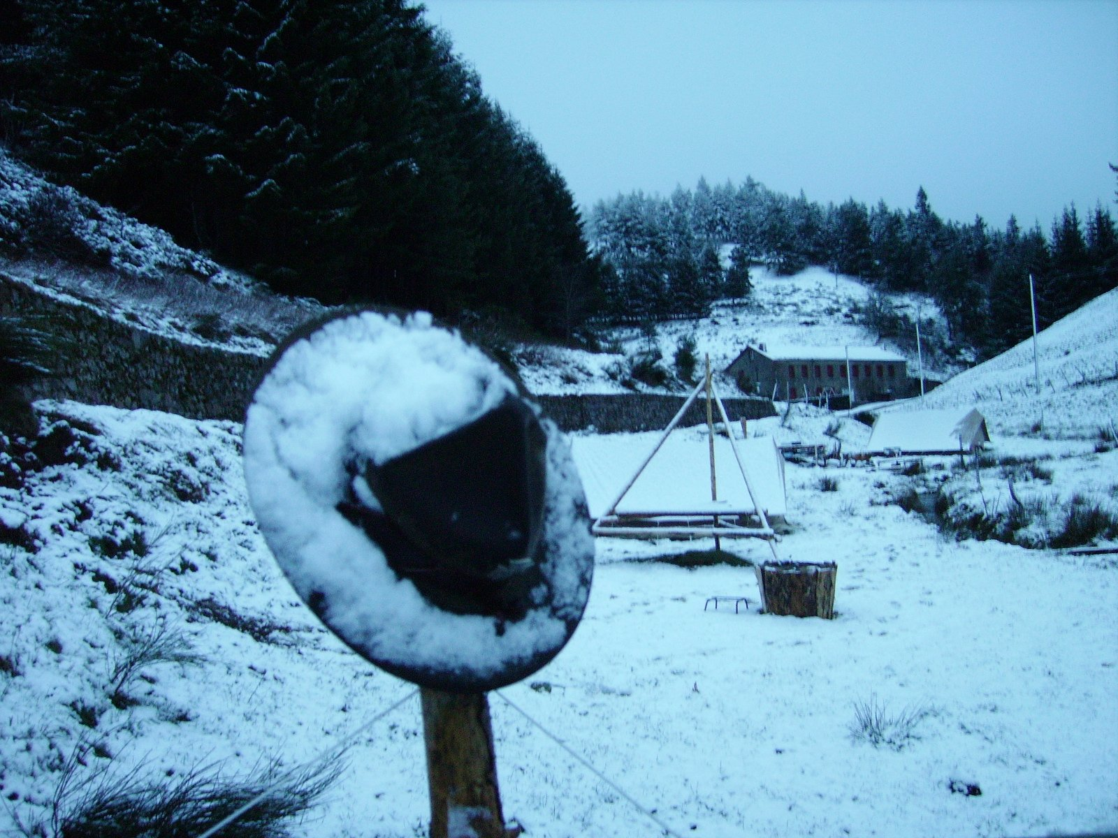 CEP Clavas sous la neige