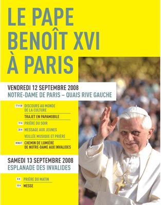 Benoit XVI à Paris